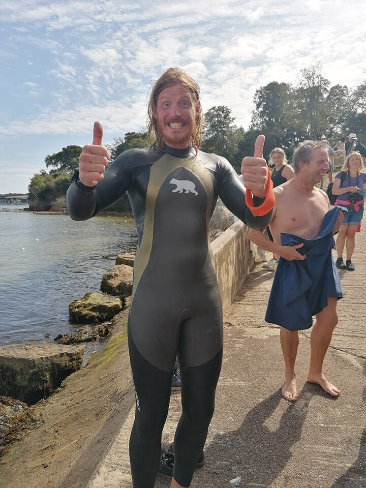Oly' 96-mile swim raised a whopping £9,480 for Oceans to Earth and Clean Jurassic Coast