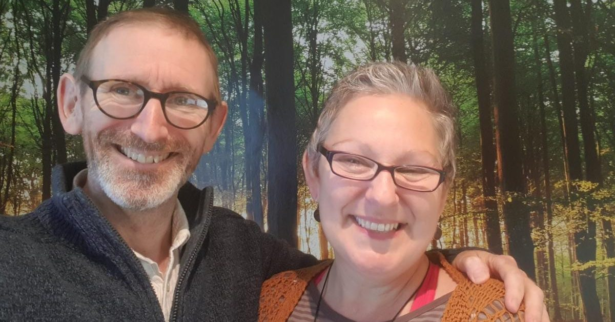 Simon and Tracy, founders of The Word Forest Organisation